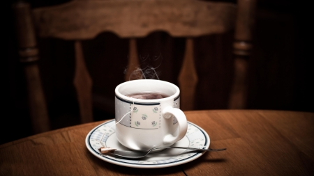 Coffee - photography, coffee, spoons, cups, table