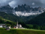 Santa Maddalena and Odle Mountain Group  Dolomites, Italy