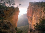 Would you jump Hanging rock, Blue mountains, Australia