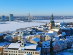 Winter in Riga, Latvia