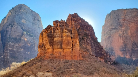 Zion National Park, Utah - stones, sky, usa, mountains