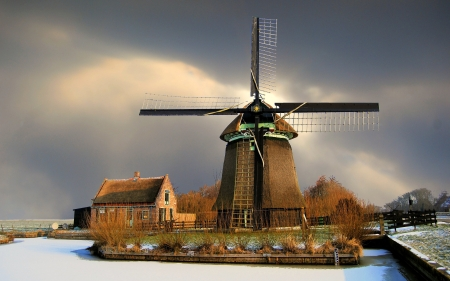 Windmill - architecture, photography, windmill, Netherlands