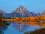 Fall colors at Oxbow Bend, Grand Teton NP