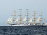 Tall Ship in Tyrrhenian Sea