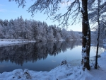 Winter River in Latvia