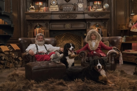the christmas chronicles 2 - santa, dog, mrs, fireplace, clause, lounge