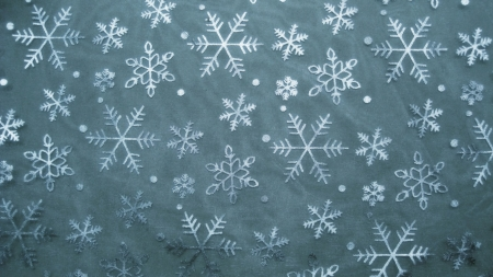 Snow crystals - snow, snowflakes, wallpaper, background, snow crystals, digital art, winter