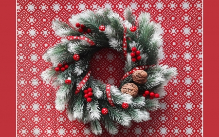 Advent Wreath - Christmas, wreath, Advent, decoration, red