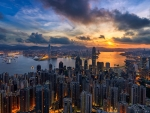 Sunset on Hong Kong