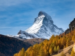 The Matterhorn from the Swiss with fall colors