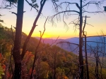 Sunset seen from Bullhead trail, Great Smoky Mountains National Park