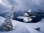 Winter at Crater Lake National Park, Oregon