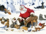 Santa and friends