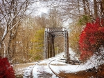 First Snowfall at the Tuckasegee River Bridge Trestle, Smoky Mountains