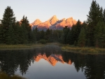 When the sun comes up in Jackson Hole, Wyoming