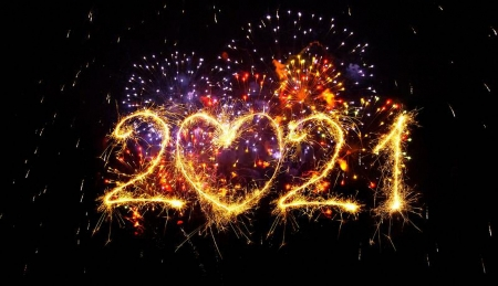 Happy new year 2021 - 2021, firework, wishes, heart