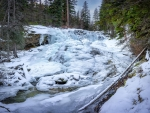 Frozen Upper Bass Creek Falls, Montana