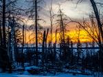 Sunset in Northern Saskatchewan, Canada