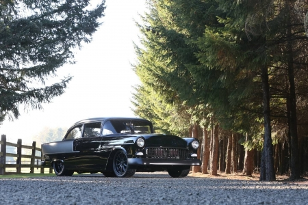 1955 Chevrolet Bel Air - Gm, Black, Bowtie, Muscle