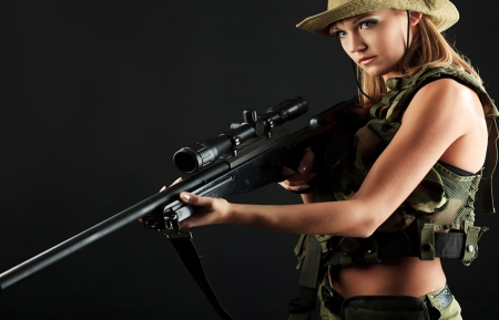 Freedom Keeper - rifle, hats, blondes, cowgirls, freedom