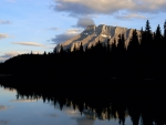 Picturesque Mt. Rundle from Two Jack Lake