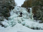 Frozen falls in the Adirondacks, NY