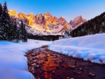 Winter in the Dolomites, South Tyrol
