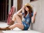 Cowgirl On The Floor