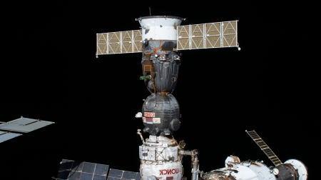 Soyuz MS 16 docked at ISS - ISS, Soyuz MS 16, dock, space