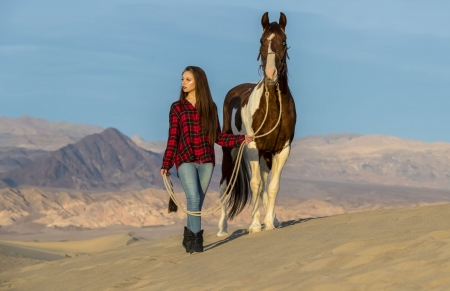 Keep Hope - brunettes, boots, horses, cowgirls