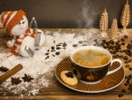 Coffee with Snowman