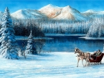 Sleigh Ride By The Lake