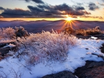 Dawn on the Appalachian Mountains