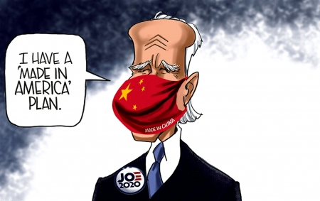 China Puppet - president, masks, fraud election, political, freedom