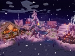 Magical Christmas Village in RealmCraft Free Minecraft Style Game