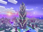 Colorful Christmas Tree in the Middle of Forest - RealmCraft Free Minecraft Clone