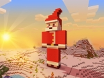 Adorable Santa Claus in RealmCraft Free Minecraft Style Game