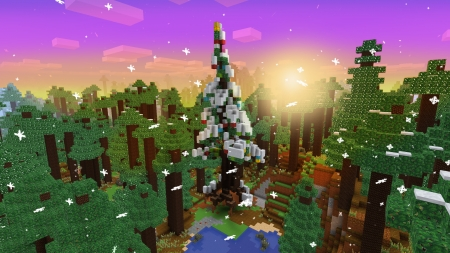 Winter Holiday Event, Christmas Tree in Realmcraft Free Minecraft Style Game - open world game, gaming, playgames, pixel games, mobile games, realmcraft, sandbox, free minecraft, games, free, action, game, minecrafters, pixel art, art, 3d building games, pixel, fun, adventure, building, 3d, minecraft