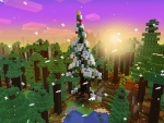 Winter Holiday Event, Christmas Tree in Realmcraft Free Minecraft Style Game