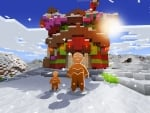 Cute Gingerbread House & Little Gingy in Realmcraft Free Minecraft Clone