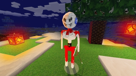 Skeleton Tries a Christmas Look in RealmCraft Free Minecraft StyleGame - open world game, gaming, playgames, pixel games, mobile games, realmcraft, sandbox, free minecraft, games, free, action, game, minecrafters, pixel art, art, 3d building games, pixel, fun, adventure, building, 3d, minecraft