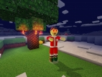 Zombie in Santa Klaus's Suit! Only in RealmCraft Free Minecraft StyleGame