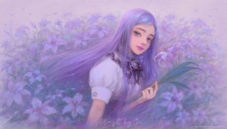 ♥ - art, digital, fantasy, girl