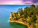 Pictured Rock, Marquette Michigan, Miners Castle