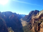 View from the top of Angels Landing, Zion National Park