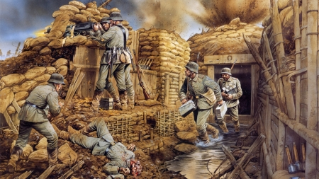 World War One Art - World War One Art, Art, Artwork, World War One
