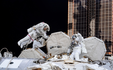 Space Walk - ISS, space station, space walk, space