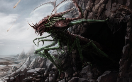 insect monster - insect, monster, creature, cave