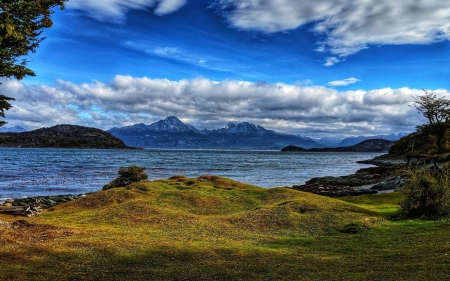 Tierra Del Fuego, Argentina - clouds, sky, mountains, sea, landscape