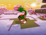Dangerous Mob Looks Cute in Christmas Outfit in Realmcraft Free Minecraft Clone